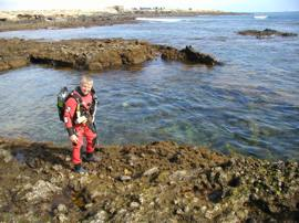 Preparing for diving in Gran Canaria's marine reserve at Arinaga