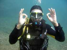 Having fun at the best diving site in Gran Canaria - the Arinaga Marine Reserve