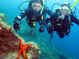 Swim with colourful creatures in the el Cabrón marine reserve