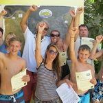 certificates at diving centre in gran canaria