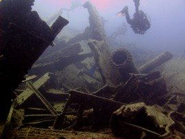 The wreck of the Angela Pando is dived by Boat from Las Palmas