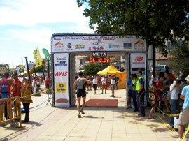 The seafront is used for many sporting events - here is the 2008 Triathalon - Copa de España