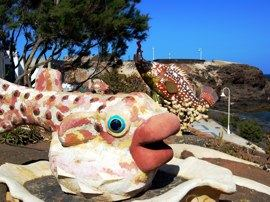 These fish sculptures are to be found at Risco Verde, one of our regular dive sites.