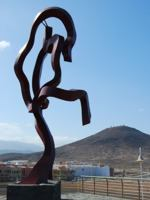 Arinaga Man - this statue is close to the apartment for rent in Gran Canaria