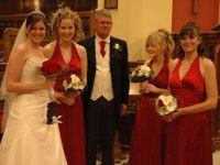 Brian with Annette and the bridesmaids Louisa, Sophie and Helen