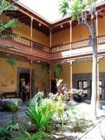The tranquil courtyard in the house of Christopher Columbus in Las Palmas de Gran Canaria