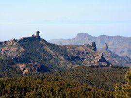 Gran canaria central mountains beautiful scenery
