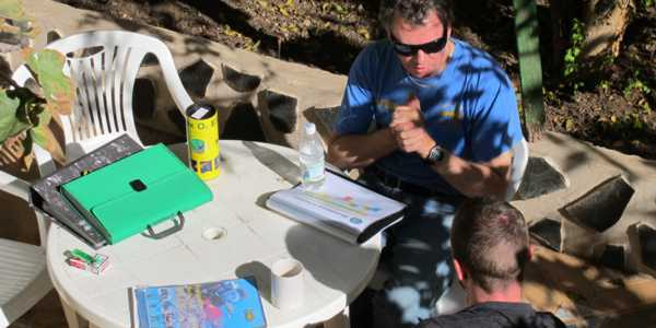 Learn about Nitrox on a PADI Enriched Air Nitrox Course on our garden teaching area