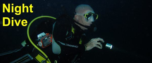 PADI night dive training Course Gran Canaria