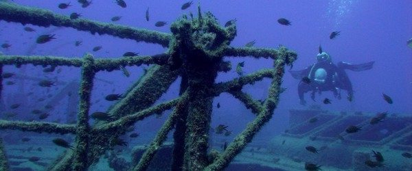 wreck diving in Gran Canaria